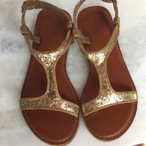 Gap Girls Gold-Glitter Sandals